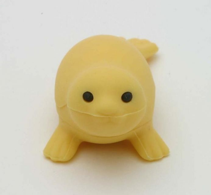 IWAKO NOVELTY ERASERS / RUBBERS - YELLOW SEAL